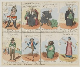 Characters in the New Piece Now Performing at the Theatre Royal Cotten Garden 1820, published by John Marshall Jr - NPG D46025b