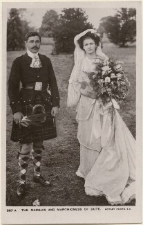 John Crichton-Stuart, 4th Marquess of Bute; Augusta Mary Monica (née Bellingham), Marchioness of Bute, published by Rotary Photographic Co Ltd - NPG x198198