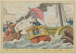 The Pilot Lost and the National Steamboat in Danger, by Charles Williams, published by  Samuel Knight (Knights) - NPG D46027