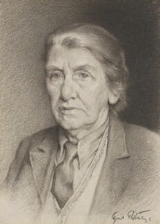Cicely Mary Hamilton (née Hammill), by Cyril Roberts - NPG 7011