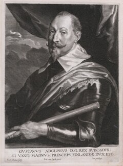 Gustavus Adolphus, King of Sweden, by Paulus Pontius (Paulus Du Pont), after  Sir Anthony van Dyck - NPG D46099