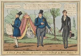 A Voice from Paris - or broad hints to Deaf & Blind Rulers!!!, by Henry Heath, published by  Samuel William Fores - NPG D46034