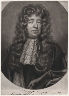Sir William Petty, by John Smith, after  John Closterman - NPG D46101