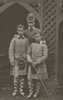 Prince Albert Victor, Duke of Clarence and Avondale; Queen Alexandra; King George V, by W. & D. Downey - NPG x199273