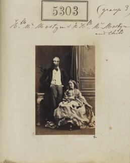 George Charles Mostyn; Hubert George Charles Mostyn, 7th Baron Vaux of Harrowden; Mary Mostyn (née Monk), by Camille Silvy - NPG Ax55263