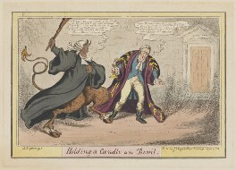 Arthur Wellesley, 1st Duke of Wellington ('Holding a Candle to the Devil'), by John Phillips, published by  J. Chappell - NPG D46044