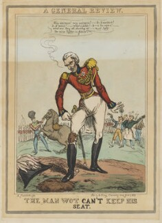Arthur Wellesley, 1st Duke of Wellington ('The man wot can't keep his seat'), by John Phillips, published by  E. King - NPG D46048
