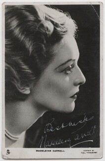 Madeleine Carroll, by Paul Tanqueray, published by  Raphael Tuck & Sons - NPG x199279