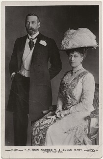 King George V; Queen Mary, by James Russell & Sons, published by  J. Beagles & Co - NPG x196999