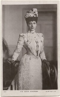 Queen Alexandra, by Charles William Burnside, for  Chancellor & Son, published by  Rotary Photographic Co Ltd - NPG x196861