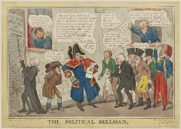 The Political Bellman, by Robert Seymour, published by  E. King - NPG D46052