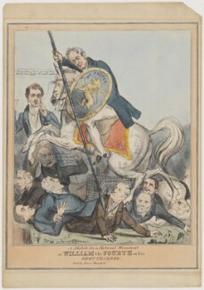 A sketch for a National Monument, or William the Fourth on his Grey Charger, probably by T.C. Wilson, published by  Samuel William Fores - NPG D46054