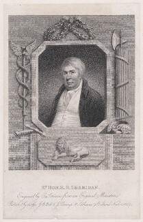 Richard Brinsley Sheridan, by Edward Scriven, published by  J.B. Bell, published by  J. Decamp, after  Unknown artist - NPG D46106