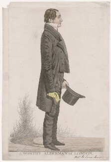 Sir James Shaw ('A worthy alderman of London'), by Richard Dighton, published by  Thomas McLean - NPG D46109