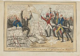 The Battle of the Petitions, a Farce now performing with great applause at both Houses, published by John Field - NPG D46062