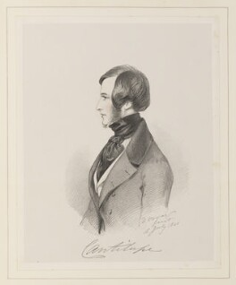 George John Frederick Sackville-West, Viscount Cantelupe, by Richard James Lane, after  Alfred, Count D'Orsay - NPG D45980