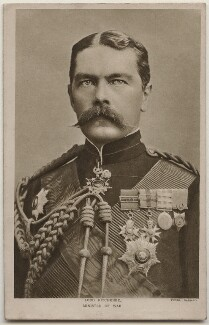 Herbert Kitchener, 1st Earl Kitchener, by Alexander Bassano, published by  P. Scopes & Co Ltd - NPG x196885