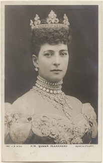 Queen Alexandra, by Gunn & Stuart, published by  J. Beagles & Co - NPG x196874