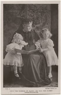 'H.R.H The Duchess of Albany and her two eldest grand-daughters', by Speaight Ltd, published by  Rotary Photographic Co Ltd - NPG x196436