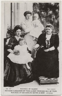 Princess Helen, Duchess of Albany with her family, by Vandyk, published by  J.J. Samuels Ltd - NPG x196437