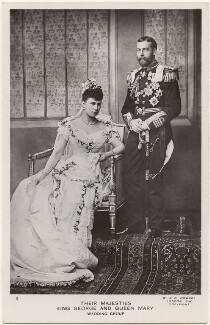 Queen Mary; King George V, by W. & D. Downey - NPG x196472