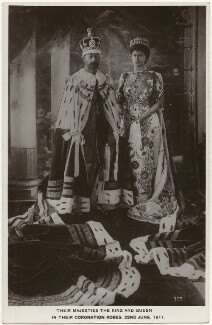 King George V; Queen Mary, by Unknown photographer - NPG x196473