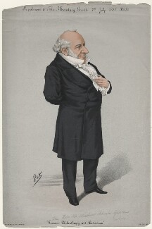 Sir Moses Haim Montefiore, 1st Bt, by 'Pet', printed by  Stevens & Co - NPG D46110