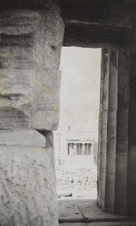 'Erectheon seen thro' Parthenon', by Lady Evelyn Hilda Stuart Moyne (née Erskine) - NPG Ax183182