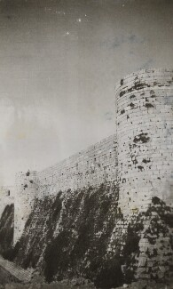 Krak des Chevaliers, Syria, by Lady Evelyn Hilda Stuart Moyne (née Erskine) - NPG Ax183210