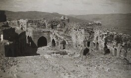 Krak des Chevaliers, Syria, by Lady Evelyn Hilda Stuart Moyne (née Erskine) - NPG Ax183213