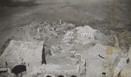 'View from the Krak' (Krak des Chevaliers, Syria), by Lady Evelyn Hilda Stuart Moyne (née Erskine) - NPG Ax183214