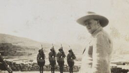 Winston Churchill reviewing the police in Jericho, by Lady Evelyn Hilda Stuart Moyne (née Erskine) - NPG Ax183254