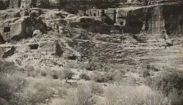 'The Theatre' (Petra, Jordan), by Lady Evelyn Hilda Stuart Moyne (née Erskine) - NPG Ax183269