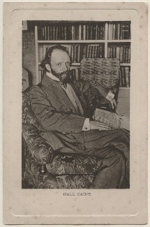 Sir (Thomas Henry) Hall Caine, published by E. Wrench - NPG x196474