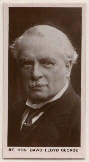 David Lloyd George, by Walter Stoneman, published by  J. Millhoff & Co Ltd - NPG x196393