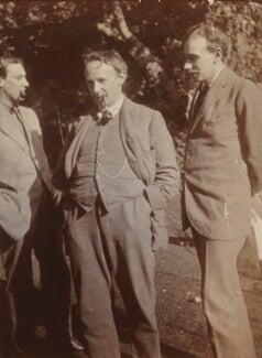 Oliver Strachey; G.E. Moore; John Maynard Keynes, Baron Keynes, by Ray Strachey - NPG Ax160965