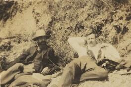 Lytton Strachey; Saxon Arnold Sydney-Turner, by Ray Strachey - NPG Ax160971