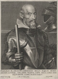 Lelio Brancacci, Marqués de Monte Silva, by Nicolaas Lauwers, after  Sir Anthony van Dyck - NPG D46194