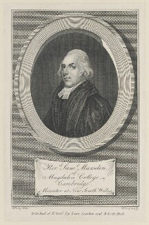 Samuel Marsden, by Garnet Terry, published by  E. Goff, and published by  B. Scott - NPG D46189