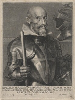 Lelio Brancacci, Marqués de Monte Silva, by Nicolaas Lauwers, after  Sir Anthony van Dyck - NPG D46195