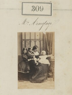 Mrs Armytage with her children, by Camille Silvy - NPG Ax50087