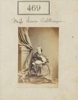 Hon. Olivia Georgiana Elizabeth Gough-Calthorpe, by Camille Silvy - NPG Ax50190