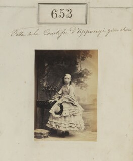Daughter of Countess of Apponyi, by Camille Silvy - NPG Ax50308