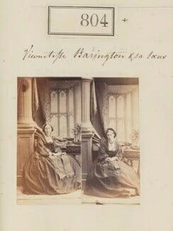 Augusta Anne Maclagan (née Barrington); Hon. Adelaide ('Addy') Balfour (née Barrington), by Camille Silvy - NPG Ax50412