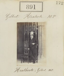 Unknown man, called Gilbert Heathcote MP, by Camille Silvy - NPG Ax50483