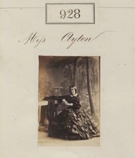 Miss Ayton, by Camille Silvy - NPG Ax50503