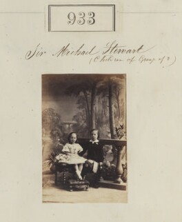 Children of Sir Michael Robert Shaw-Stewart, 7th Bt, by Camille Silvy - NPG Ax50507