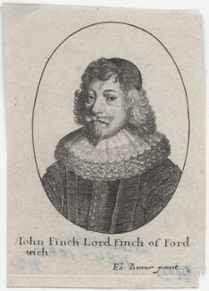 John Finch, Lord Finch of Fordwich, by Wenceslaus Hollar, after  Edward Bower - NPG D46199