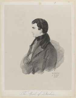 John George Lambton, 1st Earl of Durham, by Richard James Lane, after  Alfred, Count D'Orsay - NPG D46215