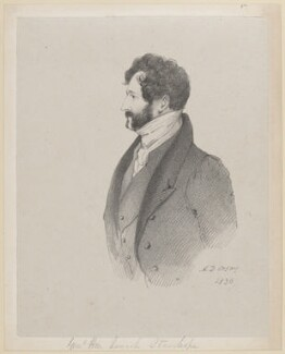 Lincoln Stanhope, by Richard James Lane, after  Alfred, Count D'Orsay - NPG D46217